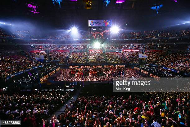 Performers take part in the 2015 Netball World Cup Opening Ceremony at Allphones Arena on August 7, 2015 in Sydney, Australia.