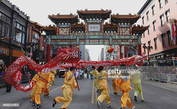 performers take part in the chinese new year parade in the chinatown neighborhood of washington dc - Chinese New Year Dc