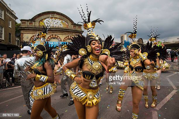 Performers take part in the Notting Hill Carnival on August 29 2016 in London England The Notting Hill Carnival which has taken place annually since...