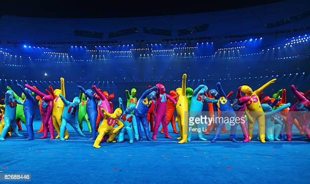 Performers take part in the Opening Ceremony for the 2008 Paralympic Games at the National Stadium on September 6, 2008 in Beijing, China.