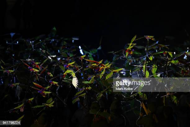 Performers take part in the Opening Ceremony for the Gold Coast 2018 Commonwealth Games at Carrara Stadium on April 4 2018 on the Gold Coast Australia