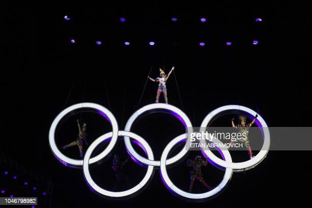 Performers take part in the opening ceremony of the 2018 Youth Olympic Games in Buenos Aires on October 6 2018