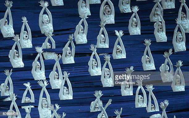 Performers take part in the Opening Ceremony of the Beijing 2008 Paralympic Games at the National Stadium on September 6, 2008 in Beijing, China.