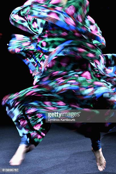 Performers take the runway during KENZO x HM Launch Event Directed By JeanPaul Goude' at Pier 36 on October 19 2016 in New York City