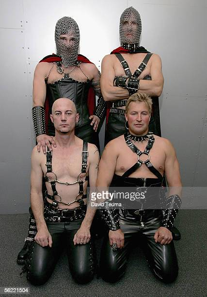 Performers wearing Marquis de Sade fashion designs pose during the 2005 Sexpo at The Exhibition Centre in Southbank November 18 2005 in Melbourne...
