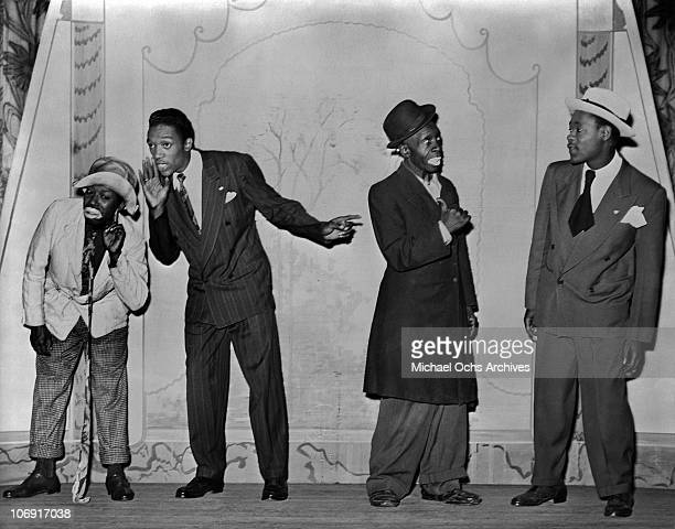Performers with Irwin C Miller's Brown Skin Models Harlem Road Show pose for a portrait circa 1938 in New York city New York