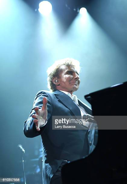 Performing artist Barry Manilow performs onstage during the 2016 PreGRAMMY Gala and Salute to Industry Icons honoring Irving Azoff at The Beverly...