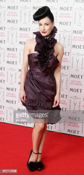 Performing artist Dita Von Teese arrives at the Moet Chandon Fashion Tribute award at the biennial awards ceremony recognising excellence in the...