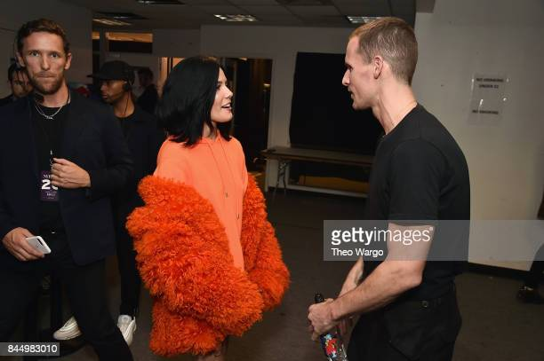 Performing artist Haley and designer Dion Lee backstage at the Dion Lee fashion show during New York Fashion Week The Shows at Gallery 2 Skylight...