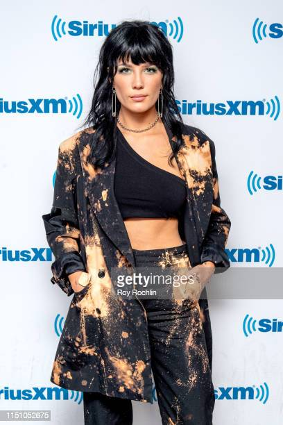 Performing artist Halsey visits SiriusXM Studios on May 22, 2019 in New York City.