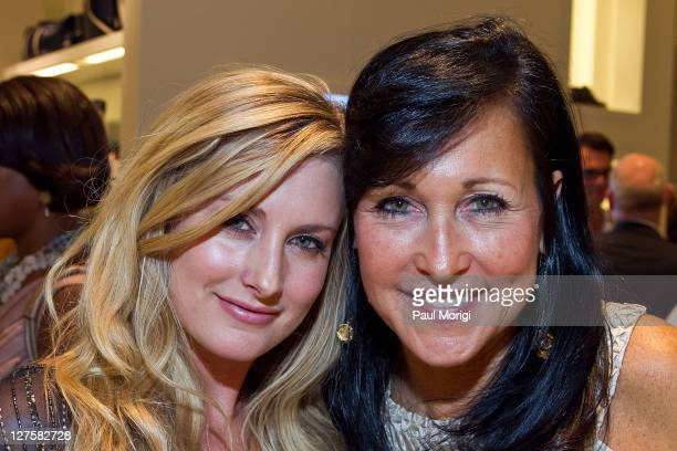 Performing artist Stephanie Quayle and designer Laura Lee attends the BALLY Grand Opening At Tysons Galleria on September 29 2011 in McLean United...
