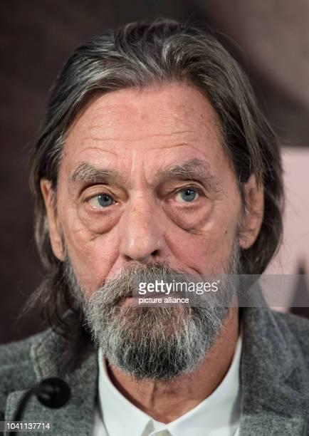 Performing artist Ulay looks at a press conference on his exhibiton 'Ulay LifeSized' in Frankfurt on the MainGermany 12 October 2016 The overview...