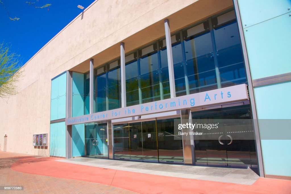 Performing arts theater entrance in Scottsdale, AZ : Stock-Foto