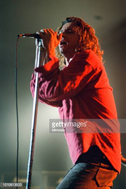 INXS performing at Cardiff University Students Union Frontman Michael Hutchence 17th July 1993