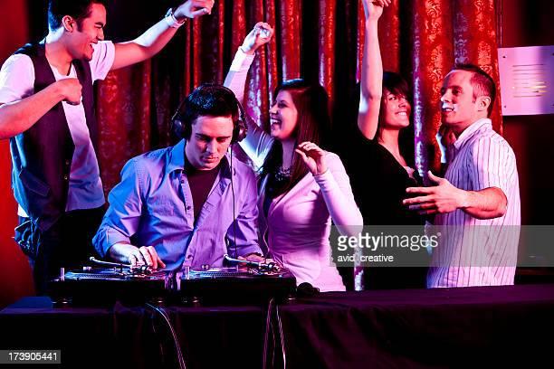 DJ Performing at Dance Club