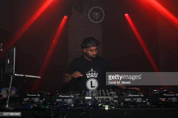 DJ performing at the Axel Arigato launch at Village Underground on September 6 2018 in London England