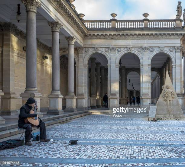 performing outside the mill colonnade, karlovy vary, czech republic - vsojoy stock pictures, royalty-free photos & images