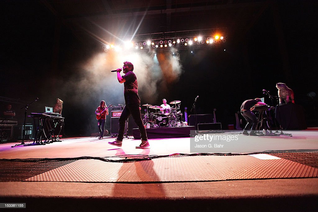 3OH!3 performs as part of 93.3's Big Gig at Red Rocks Amphitheatre on September 16, 2012 in Morrison, Colorado.