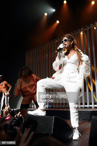 A performs as part of MIA's Meltdown Festival at The Royal Festival Hall on June 18 2017 in London England
