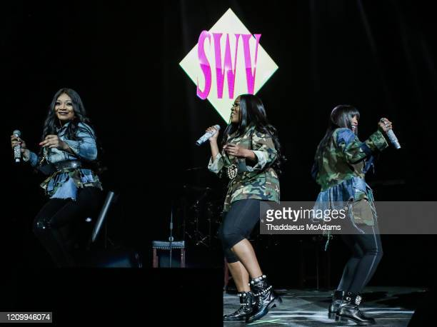 SWV performs as part of the RnB Rewind concert at Bridgestone Arena on February 28 2020 in Nashville Tennessee