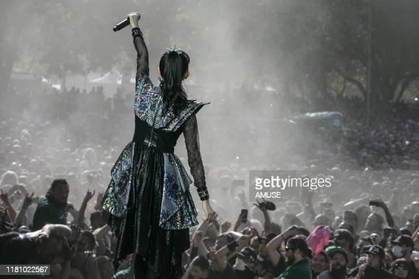 BABYMETAL performs at Aftershock 2019 at Discovery Park on October 13 2019 in Sacramento California