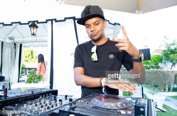 DJ performs at beGlammed Sunset Soiree Presented by Fullscreen on April 12 2019 in Palm Springs California