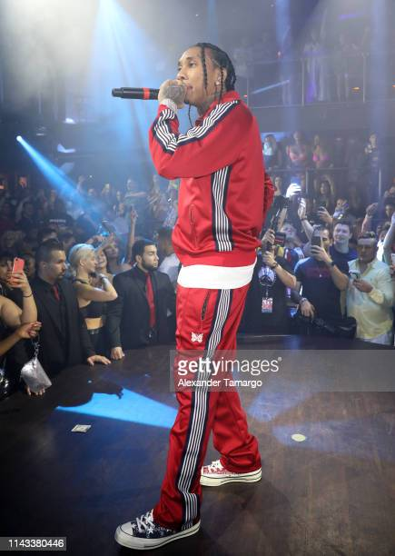 TYGA performs at E11EVEN Miami's official Rolling Loud after party on May 12 2019 in Miami Florida