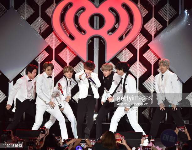 BTS performs at KIIS FM's Jingle Ball 2019 at The Forum on December 06 2019 in Inglewood California