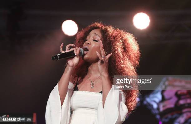 SZA performs at REVOLT Music Gala Dinner Award Presentation at Eden Roc Hotel on October 14 2017 in Miami Beach Florida