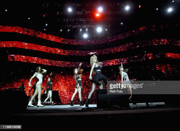 BLACKPINK performs at Sahara Tent during the 2019 Coachella Valley Music And Arts Festival on April 12 2019 in Indio California