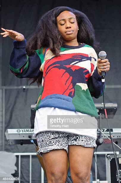 SZA performs at the 2014 Bumbershoot Festival on August 30 2014 in Seattle Washington