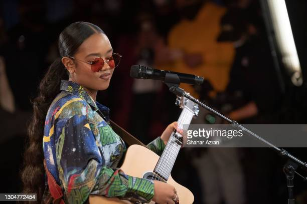 Performs at The Apollo Theater on February 27, 2021 in New York City.