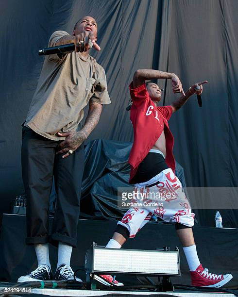 YG performs at the J Cole concert held at the Austin360 Amphitheater at Circuit of the Americas on August 22 2015 in Austin Texas