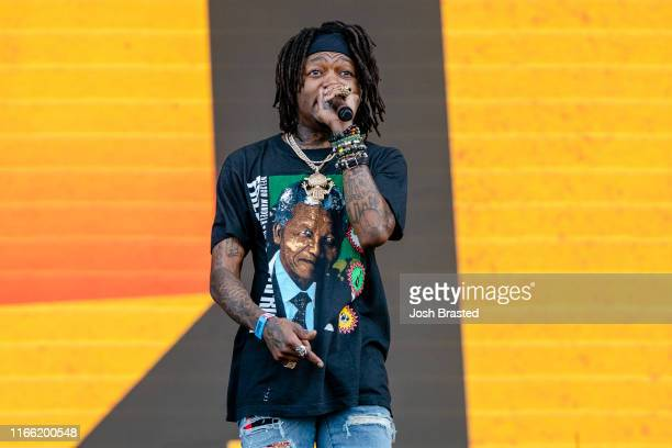 D performs at the Lollapalooza Music Festival at Grant Park on August 04 2019 in Chicago Illinois