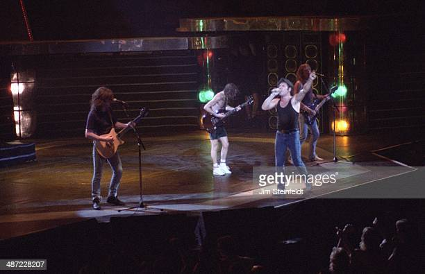 DC performs at the Met Center in Bloomington Minnesota on the Blow Up Your Video tour on JUNE 4 1988