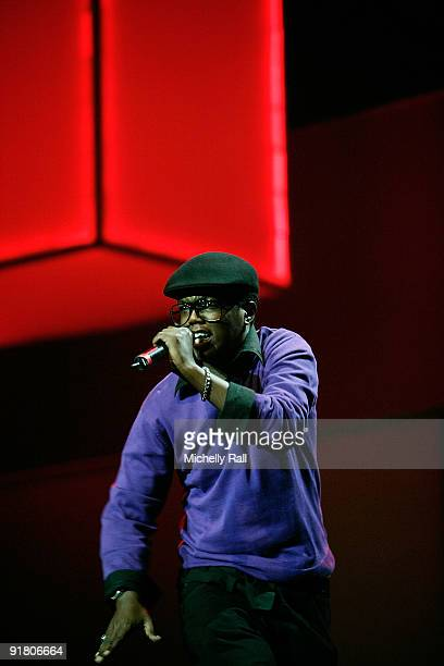 Y performs at the MTV Africa Music Awards with Zain at the Moi International Sports Centre on October 10 2009 in Nairobi Kenya