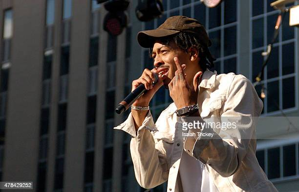 NÜE performs at the North By Northeast Music Festival at Yonge Dundas Square on June 21 2015 in Toronto Canada