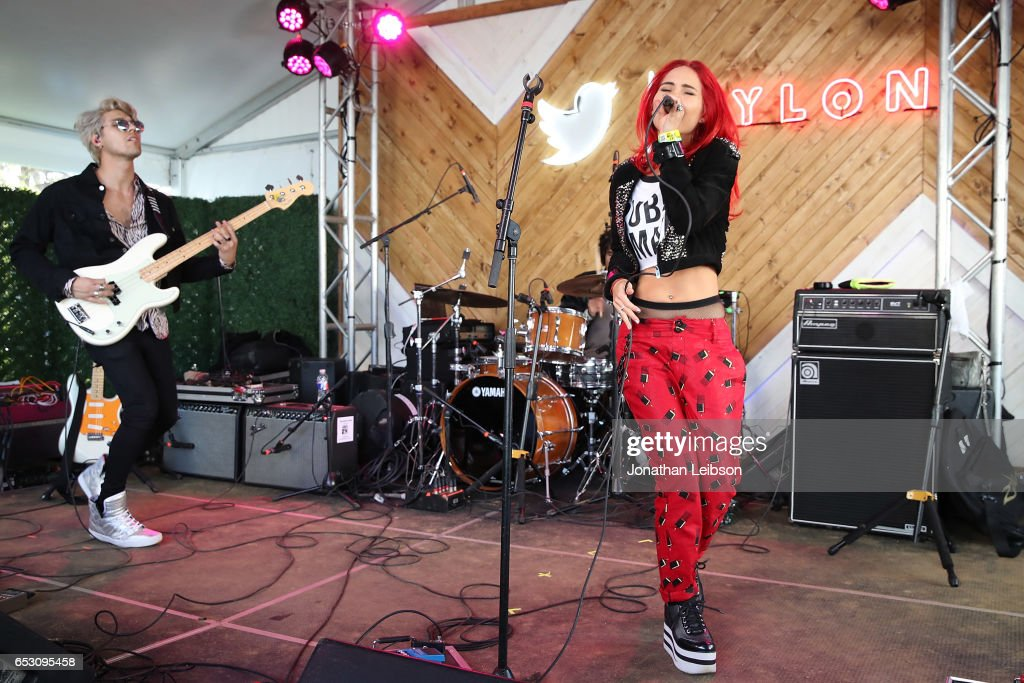 POWERS performs at the NYLON's Happiest Of Hours At #TwitterHouse at Bar 96 on March 13, 2017 in Austin, Texas.