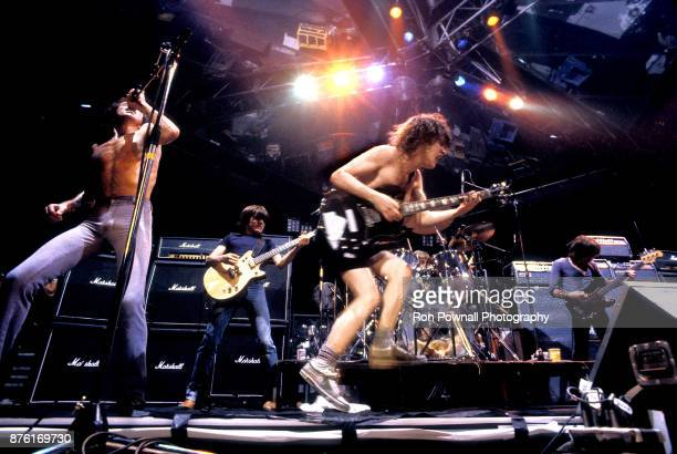 AC/DC performs at the Orpheum Theater in Boston Massachusetts October 9 1978 Bon Scott Malcolm Young Phil Rudd Angus Young Cliff Williams