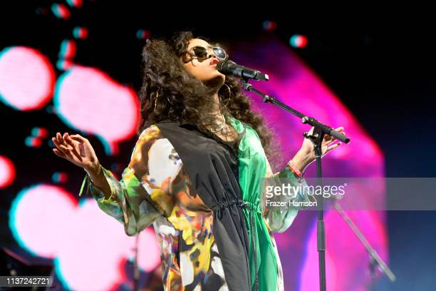 Performs at the Outdoor Theatre during the 2019 Coachella Valley Music And Arts Festival on April 14, 2019 in Indio, California.