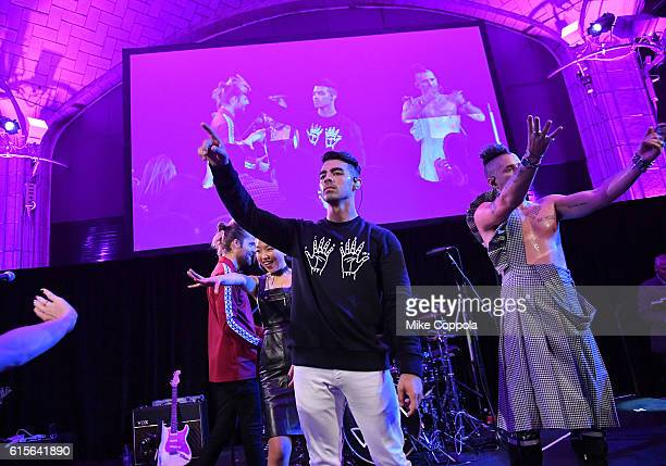 DNCE performs at TJ Martell Foundation's 41st Annual Honors Gala at Gustavino's on October 18 2016 in New York City
