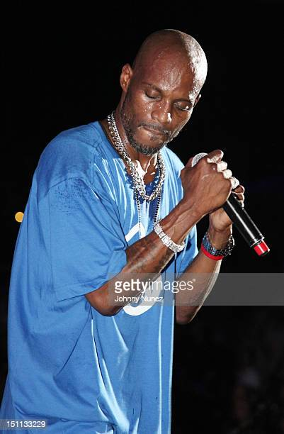 DMX performs during 2012 Rock The Bells at the PNC Bank Arts Center on September 1 2012 in Holmdel New Jersey