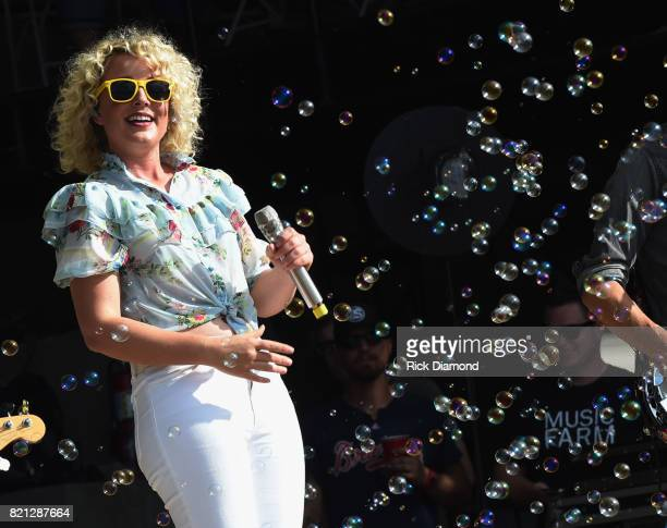 CAM performs during Country Thunder In Twin Lakes Wisconsin Day 3 on July 22 2017 in Twin Lakes Wisconsin