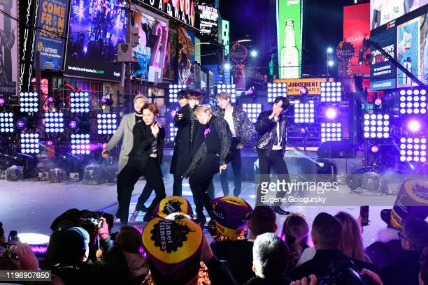 BTS performs during Dick Clark's New Year's Rockin' Eve With Ryan Seacrest 2020 on December 31 2019 in New York City