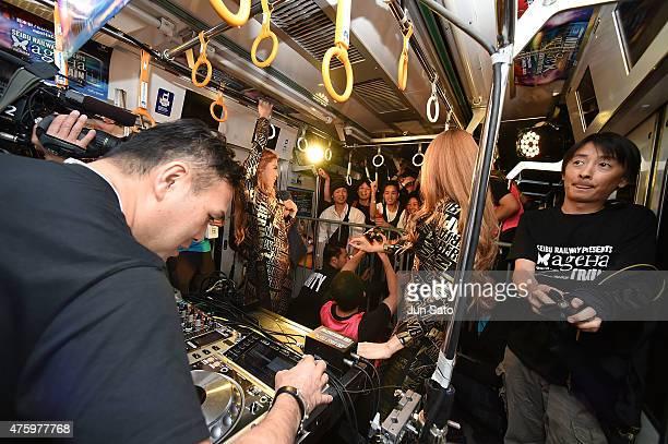 DANCE performs during SEIBU RAILWAY PRESENTS ageHa TRAIN on June 5 2015 in Tokyo Japan The Seibu Railway Company Ltd and the nightclub ageHa...