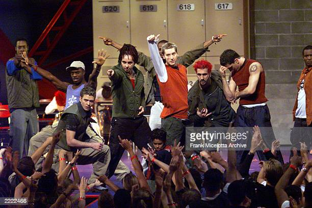 'N SYNC performs during the 1999 MTV Music Video Awards held at the Metropolitan Opera House Lincoln Center in New York City on September 9 1999