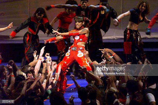 TLC performs during the 1999 MTV Music Video Awards held at the Metropolitan Opera House Lincoln Center in New York City on September 9 1999