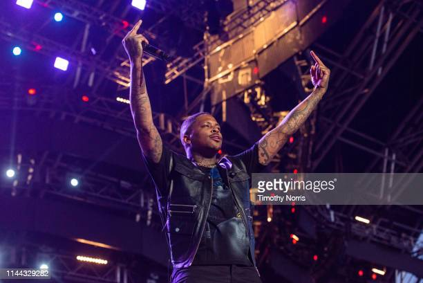 YG performs during the 2019 Coachella Valley Music And Arts Festival on April 21 2019 in Indio California
