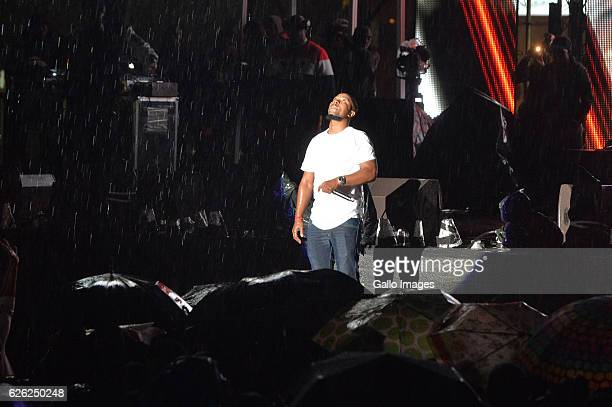 SK performs during the 7th annual Maftown Heights 2016 concert at the Mary Fritzgerald Square on November 25 2016 in Johannesburg South Africa Dubbed...