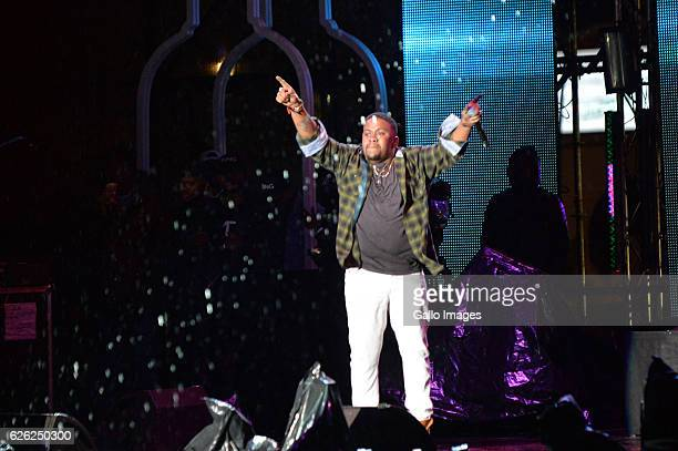 JR performs during the 7th annual Maftown Heights 2016 concert at the Mary Fritzgerald Square on November 25 2016 in Johannesburg South Africa Dubbed...